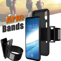 Bandes de bras de sport étuis Housse de course Cell Phone Arm Band Housse de protection en silicone antidérapante pour iPhone X 8 7 Plus 6 6S
