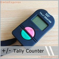Wholesale Tally Wholesale - 5X Digital Hand Tally Counter Electronic Manual Clicker ADD SUBTRACT MODEL For Golf Sports Muslim Free Shipping