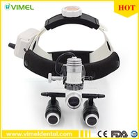 Wholesale Surgical Headband Binocular Loupes - 5.0X 420mm Dental Surgical Medical Binocular Loupes Headband Optical Magnifier with LED Headlight