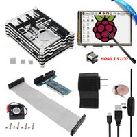 """Wholesale Raspberry Pi Hdmi Cable - Freeshipping HDMI 3.5"""" Touch Screen LCD+Ultimate Starter Kit for Raspberry Pi 3 2   9 Layers Case+ 5V 2.5A Power Supply+Cable+Fan+Heat Sink"""