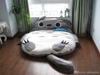 sac de couchage poupée en peluche achat en gros de-Big Totoro Soft Cartoon Bed Sac de couchage Pad Remplissage Peluches farcies Tatami Matelas Jouets Bonhomme