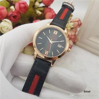 Wholesale Leather Straps For Cheap - Cheap Luxury brand men's watches Leather strap Quartz Wristwatches Automatic Date watch For men boy best gift Clock Relogio Masculino 2017