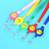 Wholesale Car Expansion - Color expansion easy smile Lanyard Mobile phone pendant buckle buckle nylon sling stretch stretch