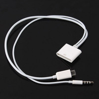 Wholesale micro usb 3.5 for sale – best 30pin to Micro pin adapter with audio Cable For Samsung Galaxy S4 S3 I9300 Charging Sync Data