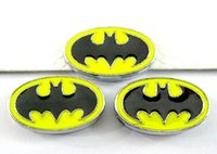Wholesale wristband slide letter 8mm - (20 , 50)PCS lot 8MM Batman Slide Charms DIY Alloy Accessories Fit For 8mm Wristband Keychains Fashion Jewelrys