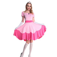 Wholesale Oz Costumes - Hot Sexy Elegant Deluxe Fairy Godmother Costume Adult Pink Fancy Dress Glinda Wizard of Oz Halloween Fancy Dress W530328