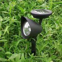 Wholesale Auto Spot Light Solar - 3 LED Solar Powered Spotlight Outdoor Garden Landscape Lawn Yard Path Spot decor Light Lamp Auto On Hot Worldwide