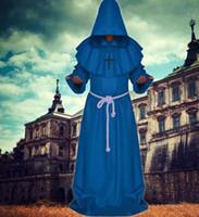 iyi özel kostüm toptan satış-Güneşli Phi Halloween Ortaçağ Times Rahipler ve Rahipler Friar Robe Sihirbazı Bakan Christian Church Hizmet Maskesi Çünkü