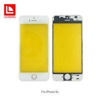 iphone 5s vorderseite großhandel-Vorderes Touch Screen Gremium äußeres Glasobjektiv mit kaltem Presse-mittlerem Rahmen-Blenden-Bildschirm für iPhone 5 5s geben Verschiffen frei