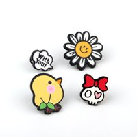 owl lapel pins - Set Summer Style Shirt Collar Brooch Pins Owl Cactus Plant Fruit Set Brooches for Women Jewelry Lapel Pin Charm Woman Dress
