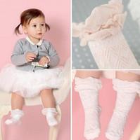 longos deslizamentos de algodão venda por atacado-Crianças meias de renda novas crianças coreano meias meninas antiderrapante algodão macio joelho meias crianças longas meia perna meninas princesa meias A0365