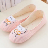 Wholesale Totoro Home Slippers - Wholesale- Cute Totoro spring Women Home Slippers For Indoor Bedroom House Soft Bottom Shoes Adult Flats Christmas Gift