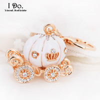 Wholesale Cinderella Carriage Favors - Wholesale- Free Shipping Cinderella Pumpkin Carriage Keychain Wedding Favors And Gifts Wedding Souvenirs Wedding Supplies Obsequios Boda