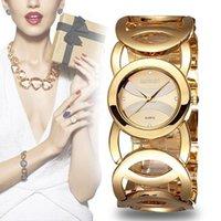 Wholesale Luxury Silver Plated Watch - Hot Sale Weiqin Brand Gold Plated Stainless Steel Fashion Bracelet Janpan Quartz Women Wrist Watches Luxury Waterproof Relogio Feminino