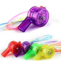 sortiertes licht großhandel-Großhandelslicht 100pcs / lot LED sortierte die Farben-Bewegung, die aktivierte Pfeifen-Halsketten bunt ist, leuchten Pfeifenneuheitsparty