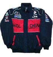 vintage yarış toptan satış-FIA Formula 1 kelime Yol Yarış Pamuk Ceketler GSN NASCAR Holden gsv yamaha ngk için Motosiklet Yarış Ceket Araba F1 moto Yarış Ekibi ceketler