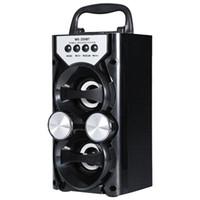 carte radiophonique achat en gros de-Le haut-parleur sans fil de Bluetooth de radio de sortie de puissance élevée portative de Redmaine soutient le contrôle de volume de carte de TF TF
