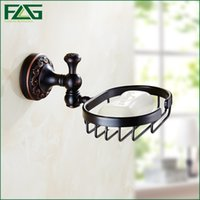 Bronze black wire baskets - FLG High Quality Brass Oil Rubbed Bronze Black Soap Rack Dish Wire Basket Soap Holder Wall Mounted Bathroom Accessories