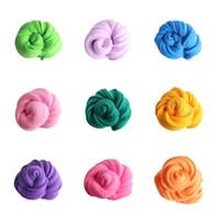 plastilin kinder groihandel-Neue 28 Farben 3D färbten Schlamm Plasticinespielwaren ungiftiges pädagogisches Spielzeug des super hellen Lehms für Kinder IA610