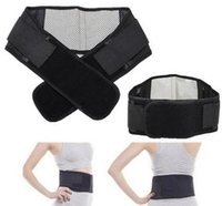 Wholesale Tourmaline Bands Wholesale - Adjustable Tourmaline Self-heating Magnetic Therapy Waist Belt Lumbar Support Back Waist Support Brace Double Banded aja lumbar