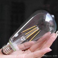 Wholesale Garden Vintage Antiques - ST58 4W 6W 2200k CRI>80 Dimmable Edison Tungsten Filament Vintage Antique Industrial Light Bulb 110V 220V