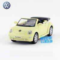 Wholesale Volkswagen Models - Free Shipping 1:32 Scale 2003 Volkswagen New Beetle Convertible Education Model Classical Pull back Diecast toy car For Collection or Gift