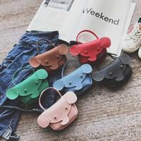 leder tier geformt geldbörsen großhandel-Animal Shaped Handtaschen und Geldbeutel für Geschenkidee Weihnachten High Quality PU Leder Kinder Umhängetasche bolsa