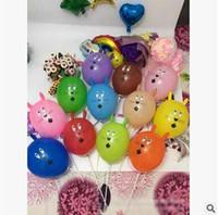 Wholesale Latex Balloon Animals - New Arrival Rabbit Head Balloon Animal Sharp Novelty Balloon Thickening Balloon Children Kids Toys Party Decoration Free Shipping