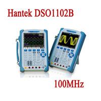 Wholesale Oscilloscope Automotive Usb - Hantek DSO1102B Digital Oscilloscope USB 100MHz 2 CH LCD Display Multimetro Osciloscopio Portable Automotive Logic Analyzer