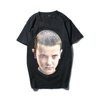 Wholesale Eleven S - New Men Lovers Cotton Stranger Things Eleven ih nom uh nit Paris Short Sleeve T-Shirt Tees plus size 3XL