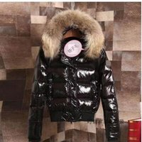 Wholesale Winter Clothes Designs For Women - Luxury Brand Design Women Jacket Down Women Clothes Two Colors Black Red Fur Coat Winter Jackets For Women Top Quality