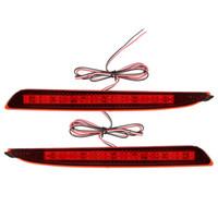 mazda luces de advertencia al por mayor-2 piezas de LED rojo parachoques trasero reflector luces de freno Advertencia de estacionamiento para Mazda 3 2010 2011 2012 2013 2014 2015