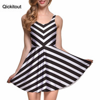 Wholesale Wholesale Runway Clothing - Wholesale- Spring Hot Sexy Women Clothing Runway Female Dresses BEETLEJUICE REMIX SCOOP SKATER DRESS Pleated Drop Shipping S119-101