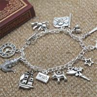 Wholesale Fairy Charm Bracelet - 12pcs Peter Pan inspired bracelet fairy star wish charm bracelet