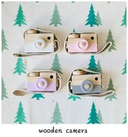 Wholesale Mini Travel Safe - ins hot Novelty Toys Childrens Wooden Camera Photography Christmas Kids cool travel Mini toy Baby cute Safe Natural Birthday Gift decoration