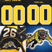 Wholesale Black Tiger Cat - Mens Hamilton Tiger Cats Custom Soccer Jersey Black 100% Stitched Embroidery Logos Jerseys Any Name Any Number Free Shipping