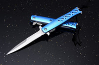 Wholesale walther knives for sale - Brand new WALTHER Swordfish Blue Cr13 Blade HRC Aluminum Handle Outdoor tactical knife tool EDC gear Tactical Knife Knives new in box
