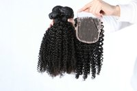 Wholesale Cheapest Malaysian Hair Bundles - Cheapest kinky Curl Hair Bundles Brazilian Malaysian Peruvian Indian with closure Remy Human Hair 100% High Quality Hair Weave Free Shipping