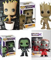 Wholesale Marvel Bobble Heads - FUNKO POP Guardians Of The Galaxy Toys Dancing GROOT Marvel Bobble Head Mask Star Lord Rocket Raccoon Gamora Drax Figure doll PVC Model
