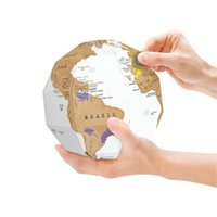 Scratch Globe World Map 3D DIY Assembléia Viagem Criativo Presente Diversão Estudo Ornamentado home decor Gift Travel Explore