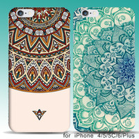 Wholesale Blue Floral Iphone Cases - Ultra Slim Case For coque iPhone 8 5 5SE 6 6s plus Blue+White Porcelain Floral Flowers Pattern Hard Covers Capinhas Accessories