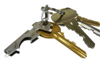 Wholesale Multi function key clip edc tool combination in key chain with a screwdriver Stainless steel bottle opener EDC