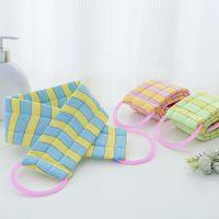 Wholesale Bath Shower Glove - Exfoliating Body Back Scubber Strap Brush Shower Sponge Spa Scrub Bath Scrubber bathroom accessory