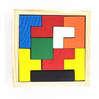 Wholesale Wholesale Brain Training Toys - Educational Puzzle Toy Tetris Creative Sorting Shape Brain Development (9 piece blocks) New Brand Training kids imagination