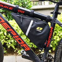 tubos de bicicleta envío gratis al por mayor-2017 nuevo Oxford Bike Front Frame Bag Ciclismo bolsa de bicicleta MTB Mountain Road Riding Bike Tube Saddle linterna Bike Tools Bag envío gratis