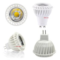 GU10 MR16 Ampoules Led Light Dimmable 5W COB Led Spot Lampes Lampes High Lumens CRI85 AC 110-240V / DC 12V DHL Livraison Gratuite