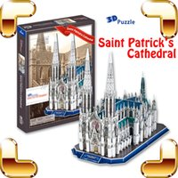 Cadeau Nouvel An Saint-Patrick's Cathedral 3D Puzzle New York Church Building Modèle DIY Puzzle IQ Learning Tool Collection