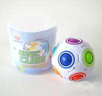 ingrosso giocattolo magico della sfera della sfera-7 5mz cubi sferici Rainbow Ball Calcio Magic Speed Cube Puzzle Giocattoli educativi per bambini GMF per i bambini del bambino Giocattoli divertenti regali
