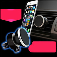 Wholesale Magnetic Rack Wholesale - Car phone holder magnetic out of the air mobile phone rack magnet car stent magnet car with mobile phone supplies