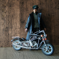 Wholesale Miniature Motorcycle Toys - G05-X4539 children baby gift Toy 1:12 Dollhouse mini Furniture Miniature rement-handmade iron motorcycle black 1pcs